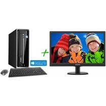 "Computador/PC PC Mix L4100 Intel Core i3 Windows 8 - 4GB 500GB HDMI + Monitor LED 18,5"" Widescreen HD"