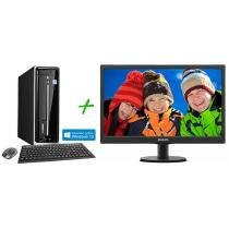 Computador/PC PC Mix L4300 Intel Celeron Dual Core - Windows 8 4GB 500GB HDMI + Monitor LED 18,5""
