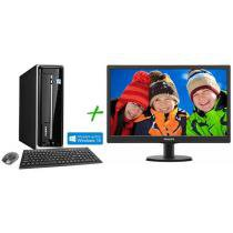 Computador/PC PC Mix L4500 Intel Pentium Quad Core - Windows 8 4GB 500GB HDMI + Monitor LED 18,5""