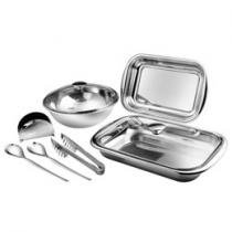Conjunto de Baixelas 7 Peas Inox