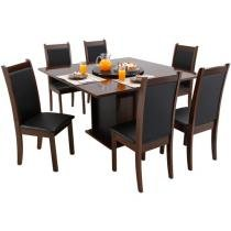 Conjunto de Mesa Belize e 6 Cadeiras