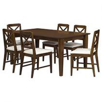 Conjunto de Mesa Bristol e 6 Cadeiras