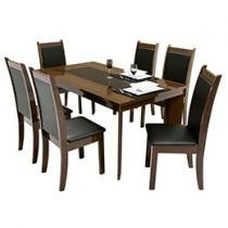 Conjunto de Mesa com 6 Cadeiras Firenze