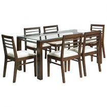 Conjunto de Mesa Ellegance Veneza 6 Cadeiras