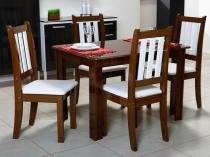 Conjunto de Mesa Genebra e 4 Cadeira