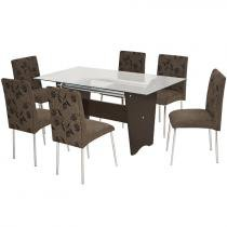 Conjunto de Mesa Munique 6 Cadeiras