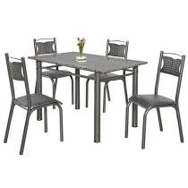 Conjunto de Mesa Poeme e 4 Cadeiras