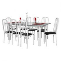 Conjunto de Mesa Roma 8 Cadeiras