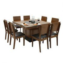 Conjunto de Mesa Verona e 8 Cadeiras Lugano