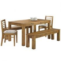 Conjunto Mesa Canela e Veneza 2 Cadeiras 2 Bancos
