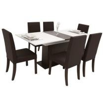 Conjunto Mesa com 6 Cadeiras Capri