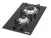 Cooktop a Gs 2 Bocas Tramontina Domin Glass