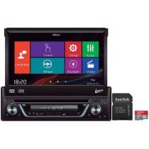 DVD Automotivo Leadership Retrátil 7 Touch Screen - Entrada Auxiliar e USB + Cartão 16GB