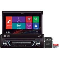 DVD Automotivo Leadership Retrátil 7 Touch Screen - Entrada Auxiliar e USB + Cartão 32GB