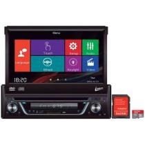 DVD Automotivo Leadership Retrátil 7 Touch Screen - Entrada Auxiliar e USB + Cartão 8GB