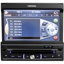 DVD Automotivo Pósitron SP6300 Retrátil Tela 7 - Touch Screen Entradas USB Aux e p/ Câmera de Ré
