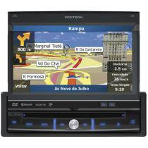 DVD Automotivo Pósitron SP6900 Retrátil Tela 7 - TV Digital GPS Bluetooth Entrada USB e SD