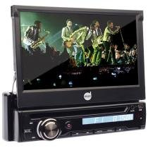 "DVD Player Automotivo Retrátil Dazz DZ-5215BT - Tela 7"" Touch Bluetooth Entrada Auxiliar e USB"