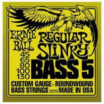 Encordoamento de Níquel 0.45 para Contrabaixo - Ernie Ball Regular Slinky Bass5 2836
