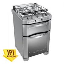 Fogo 4 Bocas GE Double Inox Duplo Forno e Timer