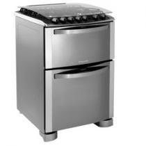 Fogo 4 Bocas Inox Tri-Chama Duplo Forno c/ Grill