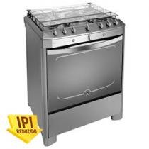 Fogo Inox 5 Bocas com Queimador Tripla Chama