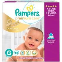 Fralda Pampers Premium Care G - 68 Unidades