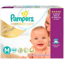 Fralda Pampers Premium Care M - 84 Unidades