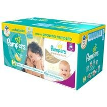Fralda Pampers Total Confort e Premium Care M - 96 Unidades