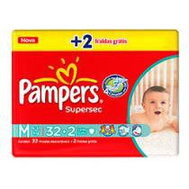 Fraldas Baby Care Supersec 34 Unidades - Pampers M