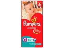 Fraldas Pampers Supersec Hiper G - 46 Unidades