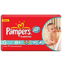 Fraldas Supersec 8 Unidades - Pampers G