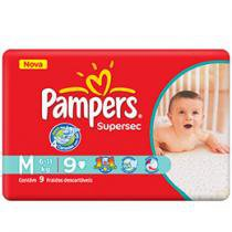 Fraldas Supersec 9 Unidades - Pampers M