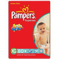Fraldas Supersec Jumbo 80 Unidades - Pampers XG