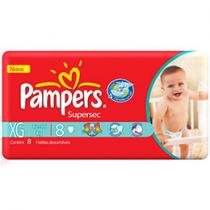 Fraldas Supersec XG 8 Unidades - Pampers