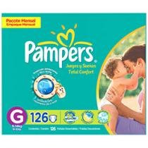 Fraldas Total Confort 126 Unidades - Pampers G