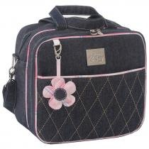 Frasqueira Jeans Luxo Rosa - Just Baby - Just Baby
