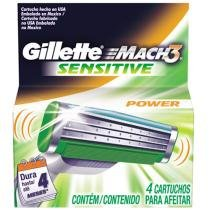 Gillette Mach 3 Power Sensitive 4 Cartuchos - Gillette