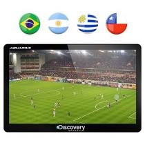 "GPS Automotivo Aquarius Discovery Channel Slim - Tela 5"" Touch TV Digital Mapas 3D"