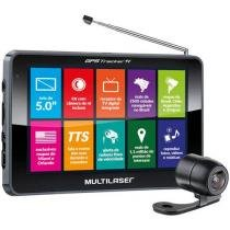 GPS Automotivo Multilaser Tracker TV Tela 5 Touch - TV Digital 2500 Cidades Navegáveis com Câm. de Ré