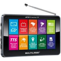 "GPS Automotivo Multilaser Tracker TV - Tela 5"" Touch TV Digital 2500 Cidades Navegáveis"