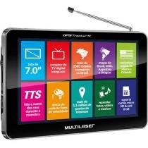 "GPS Automotivo Multilaser Tracker TV - Tela 7"" Touch TV Digital 2500 Cidades Navegáveis"