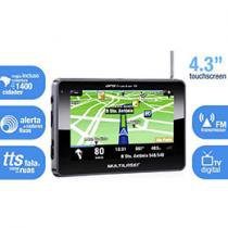 "GPS Multilaser GP012 Tela 4,3"" - Text to Speech (Fala Nome das Ruas) + Mapas 3D"