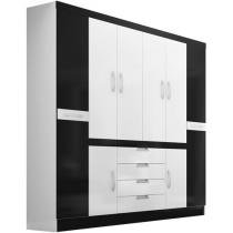 Guarda-Roupa Casal Realce 8 Portas 4 Gavetas