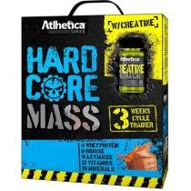 HardCore Mass Baunilha 3kg + Creatine 60 cápsulas - Atlhetica Evolution