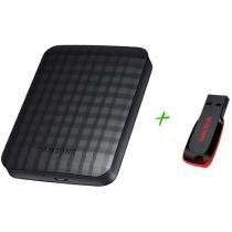 HD Externo Portátil 1TB USB 3.0 Samsung + - Pen Drive 8GB + 2GB de Backup On Line Sandisk