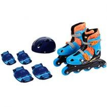Hot Wheels Patins In Line com Kit de Proteo
