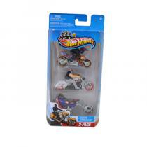 Hot Wheels Trio de Motos 164 Mod 2 - Mattel - Hot Wheels