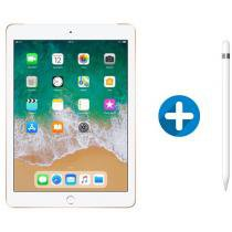iPad 6 Apple 4G 128GB Dourado Tela 9.7 - Retina Proc. Chip A10 Câm. 8MP + Apple Pencil
