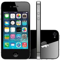 "iPhone 4s Apple 8GB 3G iOS 7 Tela 3.5"" Wi-Fi - Câmera 8MP Grava em HD + Frontal GPS - Preto"